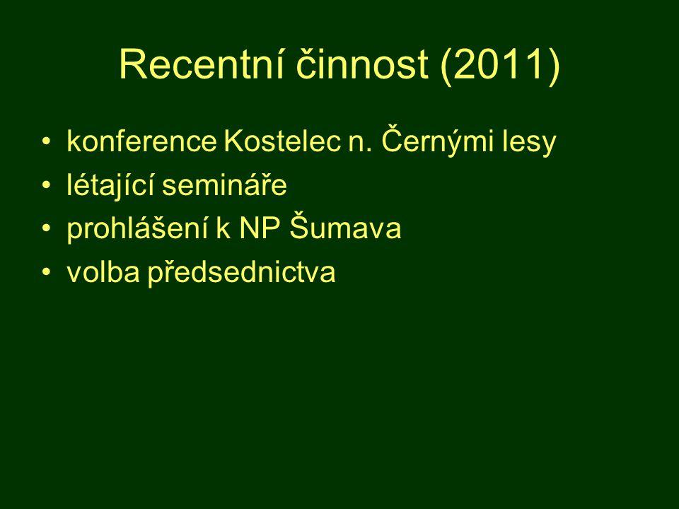 Recentní činnost (2011) konference Kostelec n.