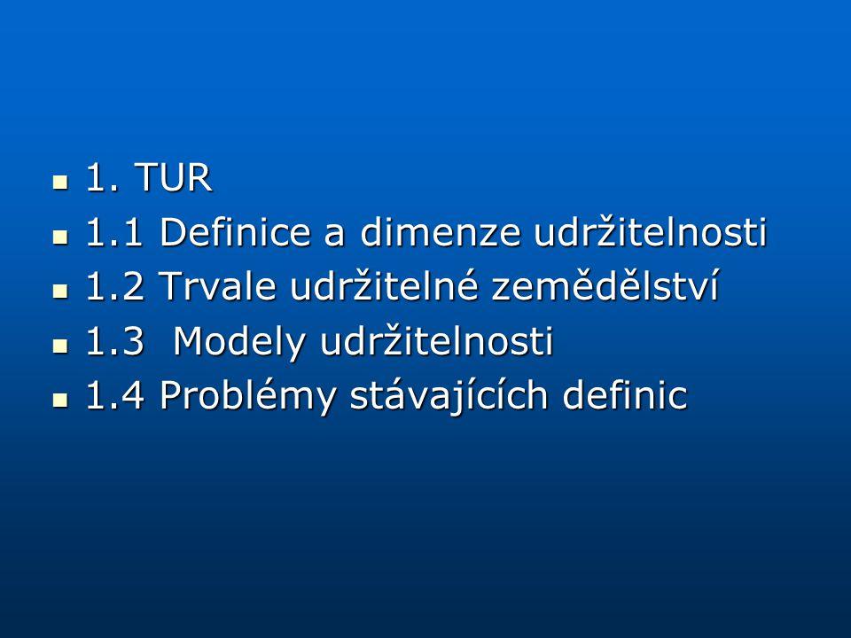 1.Trvale udržitelný rozvoj 1. zmínky 1. zmínky T.R.
