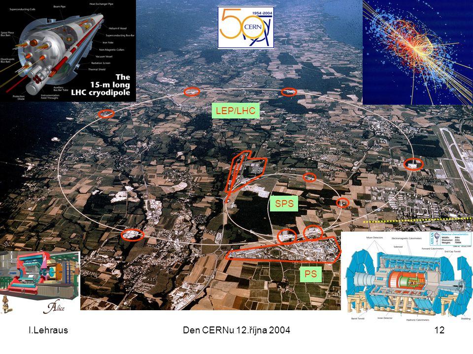 I.LehrausDen CERNu 12.října 200412 SPS PS LEP/LHC