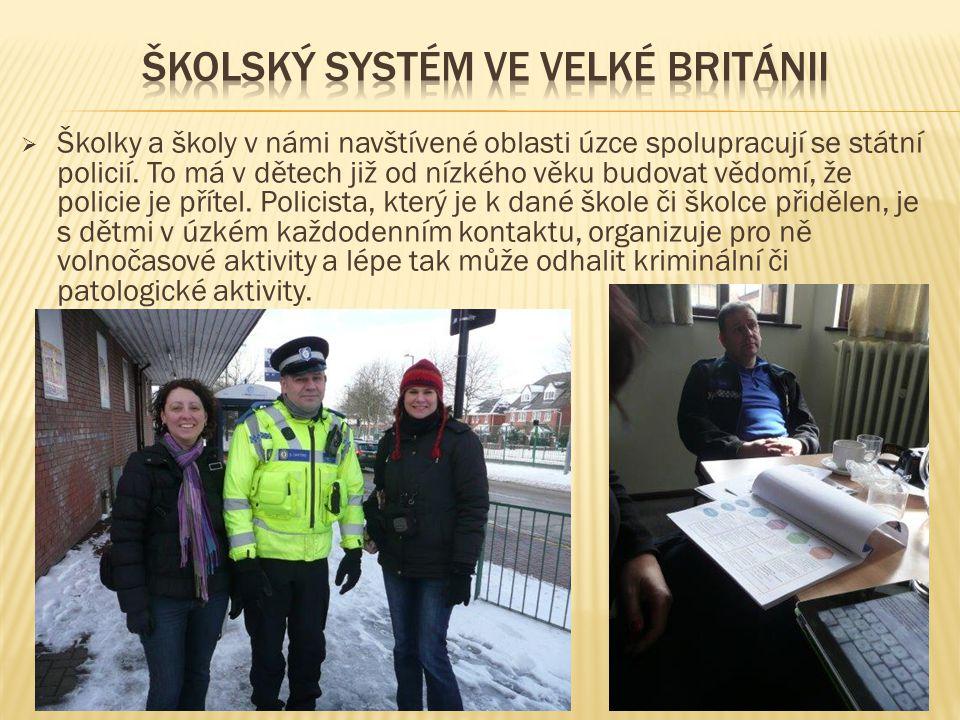  Školky a školy v námi navštívené oblasti úzce spolupracují se státní policií.