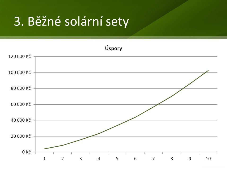 3. Běžné solární sety 3-4 panely; 300-500L Doporučená MOC 100.000 – 150.000 vč.