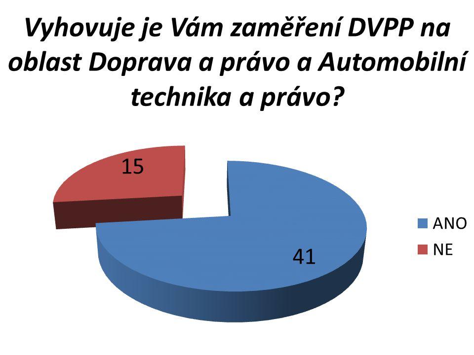 Vyhovuje je Vám zaměření DVPP na oblast Doprava a právo a Automobilní technika a právo