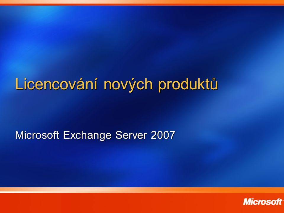 Licencování nových produktů Microsoft Exchange Server 2007