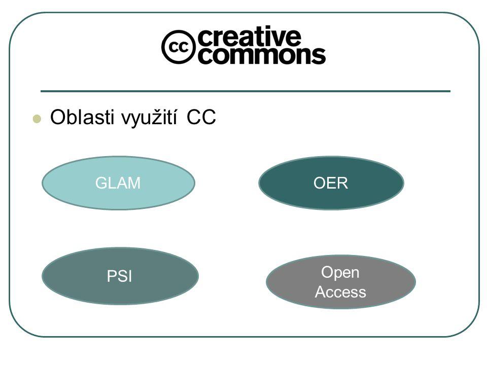 Oblasti využití CC GLAM PSI OER Open Access