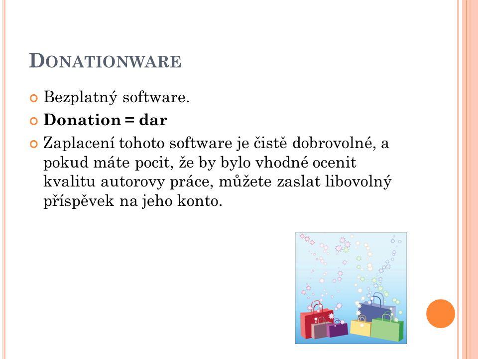 D ONATIONWARE Bezplatný software.