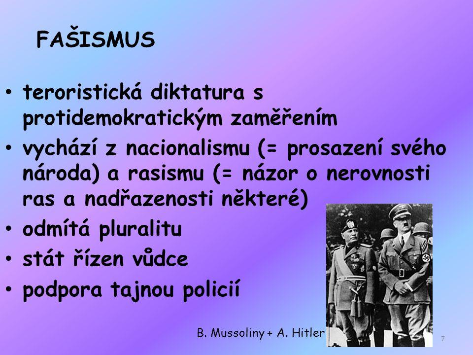 ANTISEMITISMUS nesnášenlivost X Židům (krajním příkladem - ideologie Adolfa Hitlera) 8
