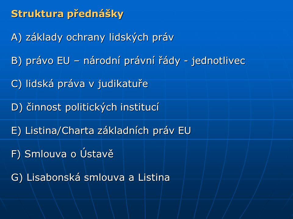 Shrnutí v otázkách Co to je přímý účinek práva EU a jaký má význam pro ochranu LP.