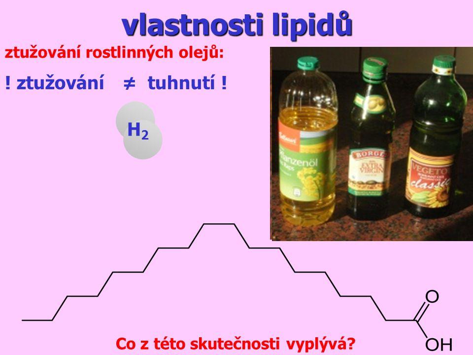 vlastnosti lipidů ztužování rostlinných olejů: Co z této skutečnosti vyplývá.