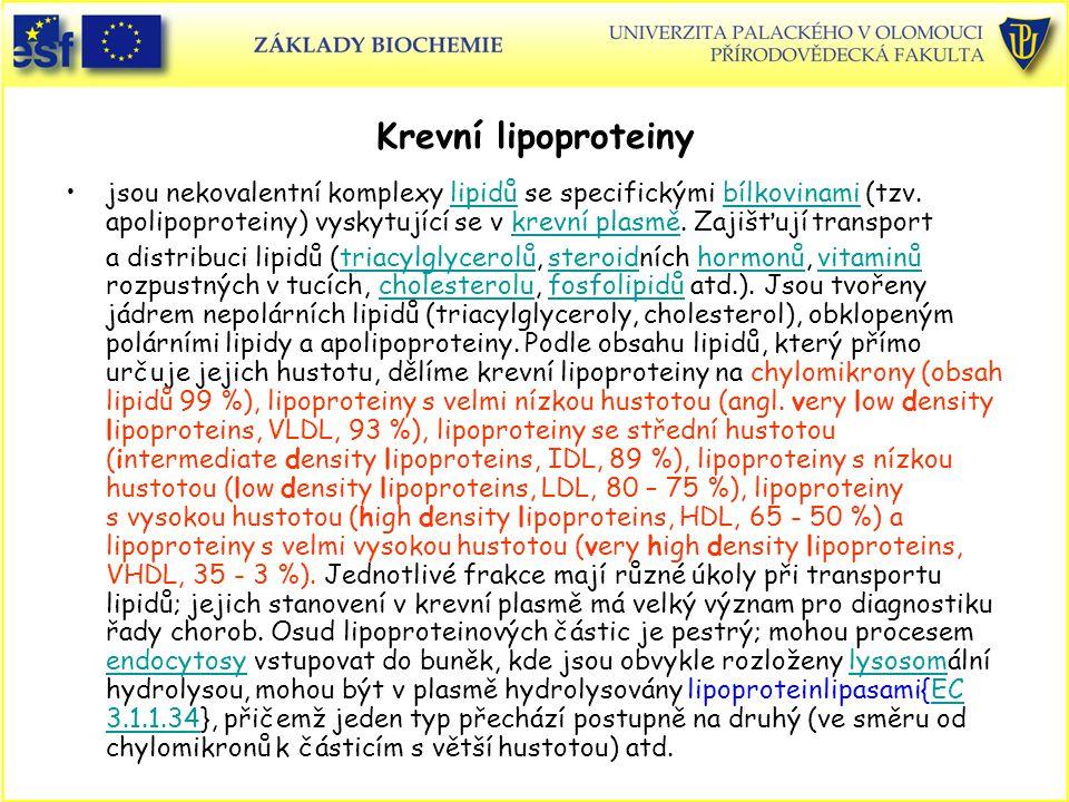 Krevní lipoproteiny jsou nekovalentní komplexy lipidů se specifickými bílkovinami (tzv. apolipoproteiny) vyskytující se v krevní plasmě. Zajišťují tra
