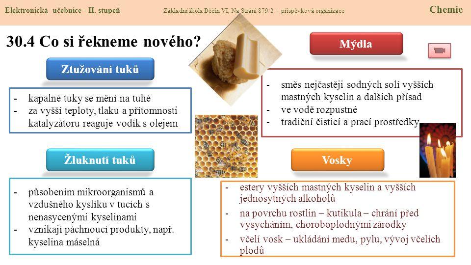 30.5 Procvičení a příklady Elektronická učebnice - II.
