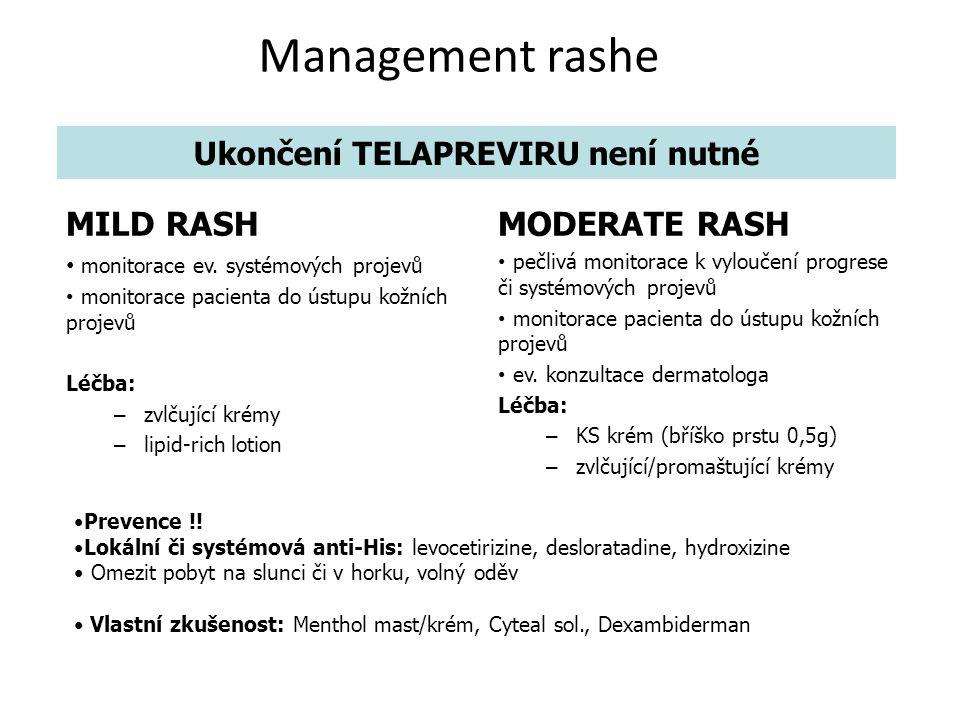 Management rashe MILD RASH monitorace ev.