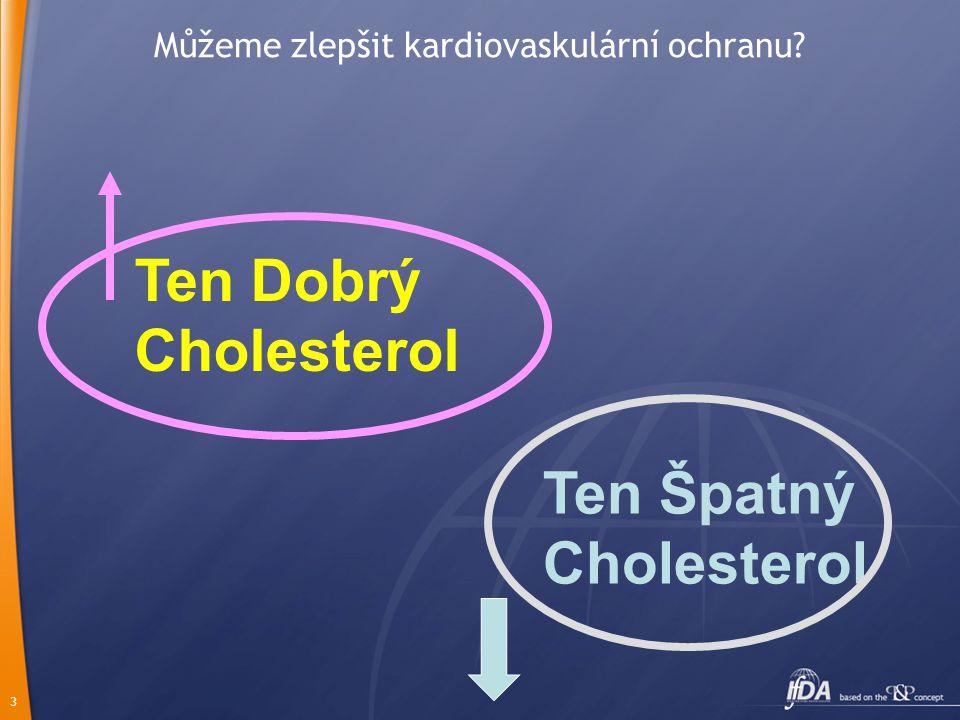 3 Můžeme zlepšit kardiovaskulární ochranu? Ten Špatný Cholesterol Ten Dobrý Cholesterol