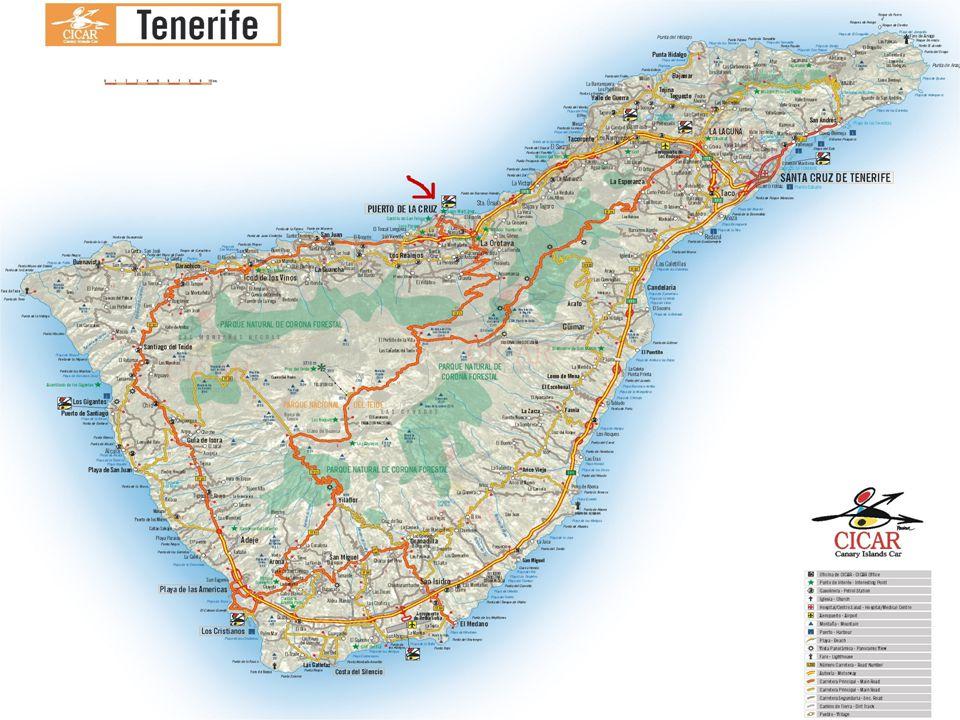 "Tenerife ""ostrov věčného jara Pico de Teide Národní park Teide Dračí strom Katedrála Loro Park Siam park Zříceniny Černý písek Golfová hřiště Pyramidy Guimar Banánové plantáže Karnevaly"