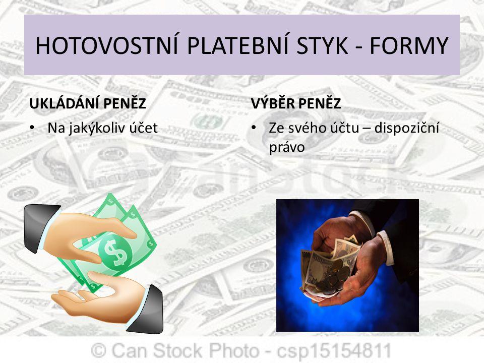 Oběh hotovosti obrázek použit z :http://www.google.cz/imgres?sa=X&biw=1280&bih=815&tbm=isch&tbnid=P6HUsHysm6oNFM:&imgrefurl=http://www.nenechsedojit.cz/platebni- styk&docid=CtCIIU8kGCPU9M&imgurl=http://www.nenechsedojit.cz/sites/default/files/obeh_hotovosti.png&w=228&h=493&ei=CEaSUpDFMsO80QXj2YCwAg&zoom=1&iact=rc&page=1&tbnh=139&tbnw=66&start=0&nds, 23.11.2013p=35&ved=1t:429,r:0,s:0,i:82&tx=21&ty=60 23.11.2013 Ukládání x výběr peněz Získané peníze dávají v obchodech do oběhu Obchodníci přijímají hotovost za zboží Komerční banky přijímají peníze od občanů a firem ČNB třídí peníze a dává do oběhu