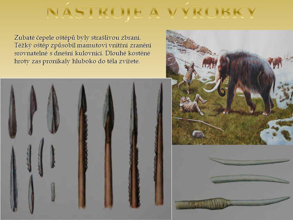 Zubaté čepele oštěpů byly strašlivou zbraní.