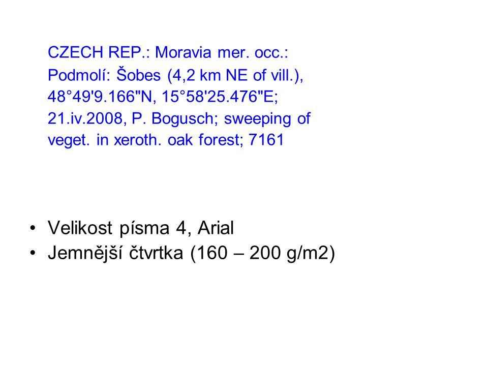 CZECH REP.: Moravia mer.