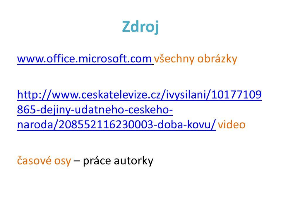 Zdroj www.office.microsoft.comwww.office.microsoft.com všechny obrázky http://www.ceskatelevize.cz/ivysilani/10177109 865-dejiny-udatneho-ceskeho- nar
