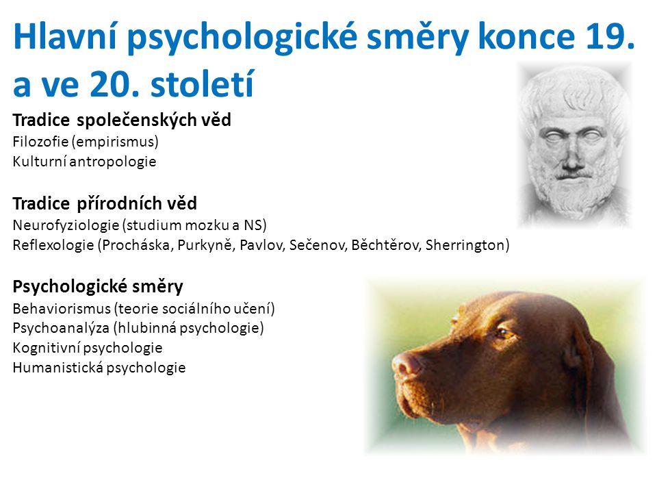 Hlavní psychologické směry konce 19.a ve 20.
