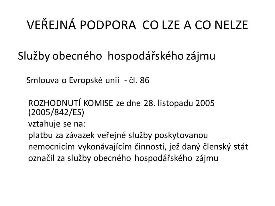 Služby obecného hospodářského zájmu Smlouva o Evropské unii - čl.