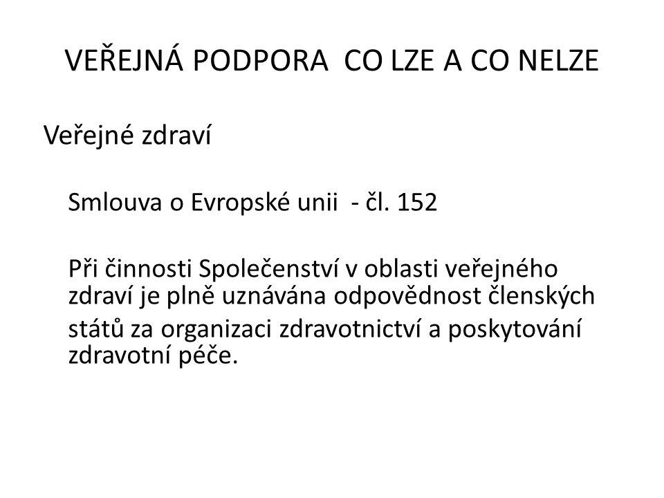 Veřejné zdraví Smlouva o Evropské unii - čl.