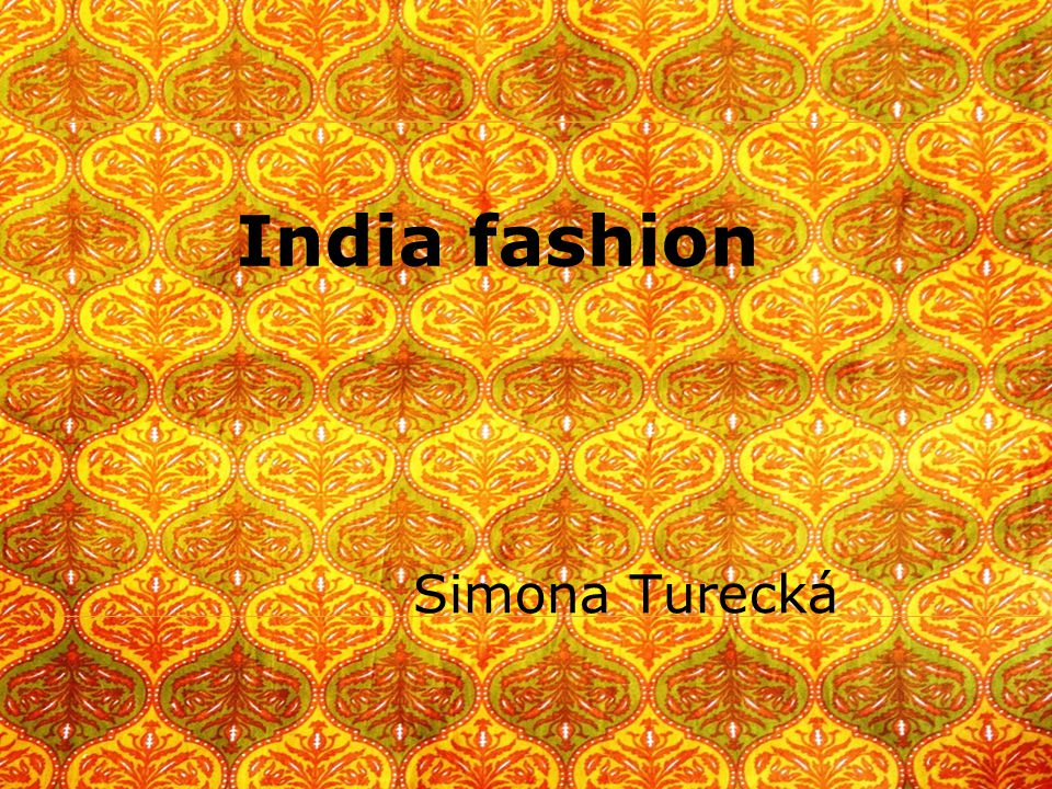 India fashion Simona Turecká