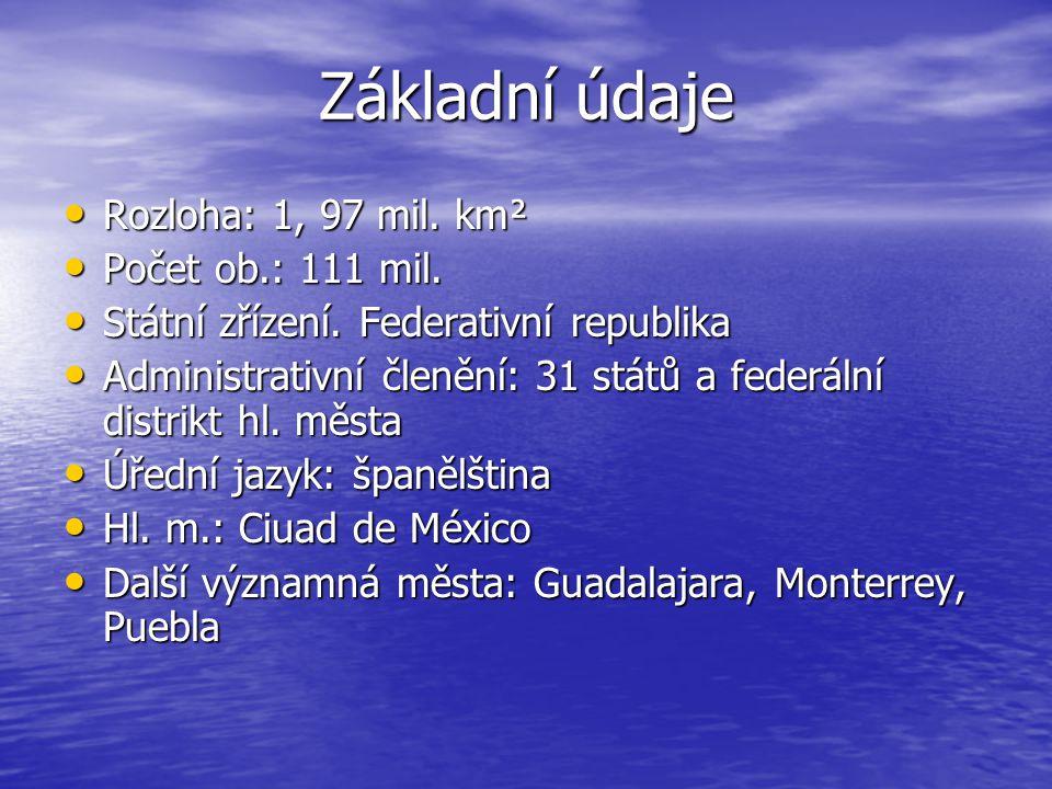 Základní údaje Rozloha: 1, 97 mil. km² Rozloha: 1, 97 mil. km² Počet ob.: 111 mil. Počet ob.: 111 mil. Státní zřízení. Federativní republika Státní zř