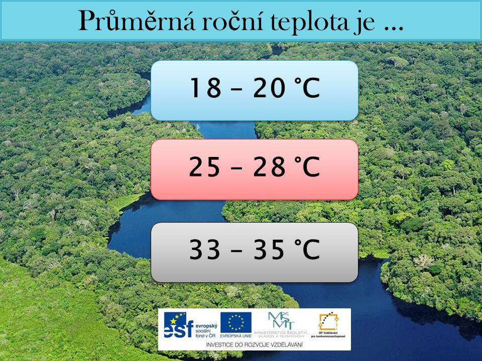 Pr ů m ě rná ro č ní teplota je … 18 – 20 °C 25 – 28 °C 33 – 35 °C