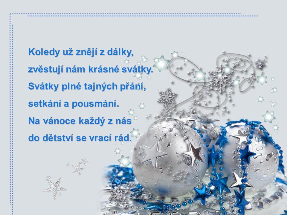 Zastavit čas v tuto vánoční chvíli, poslouchat, jak andělé mávají křídly… A vidět štěstí všude kolem sebe, a cítit, jak sněhová vločka zebe… Kéž nejen
