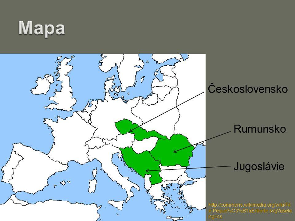 Československo Jugoslávie Rumunsko http://commons.wikimedia.org/wiki/Fil e:Peque%C3%B1aEntente.svg usela ng=cs