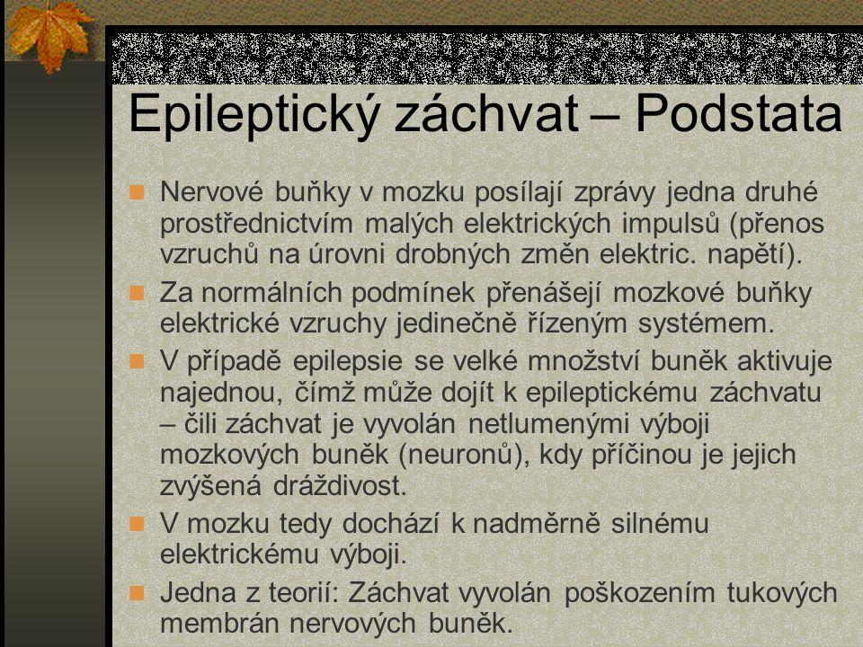 Epilepsie – Zajímavosti 2 Příklad ze života ukazuje, že o epilepsii moc nevíme: V Praze 4 se stavěl stacionář pro pacienty s epilepsií, proti čemuž začali protestovat místní obyvatelé, kteří začali organizovat podpisové akce za to, aby se stavba přesunula jinam, či chtěli postavit dvoumetrovou zeď, aby se nemuseli na nemocné dívat.