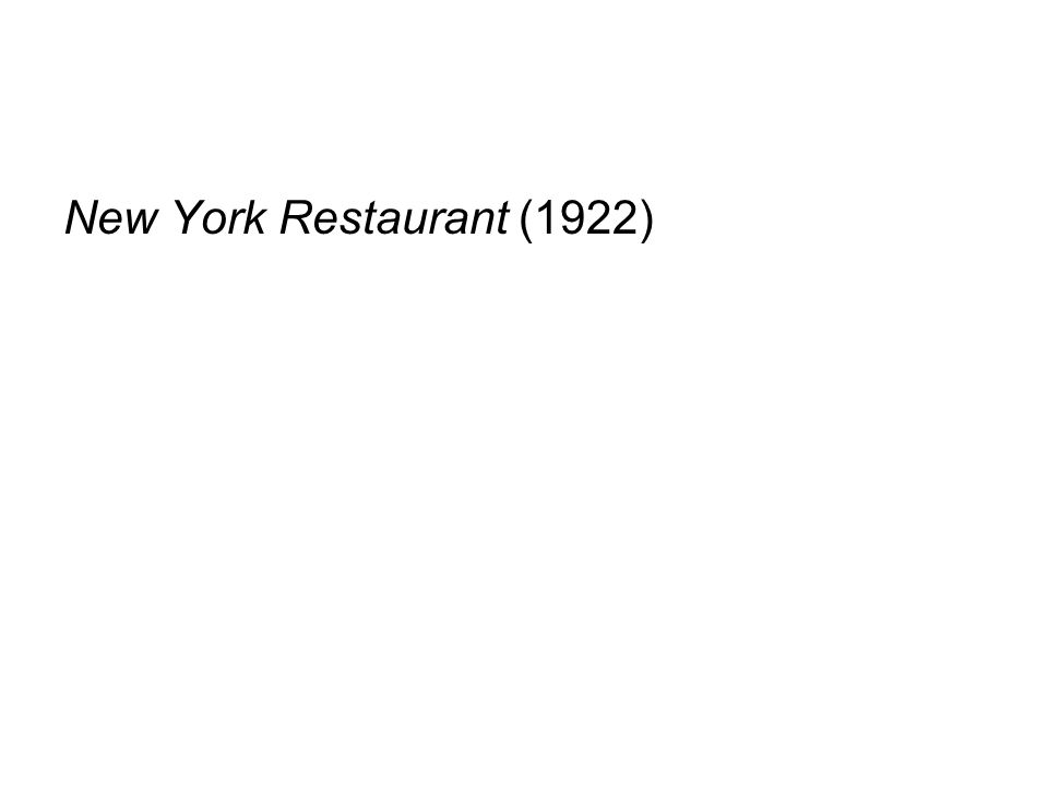 New York Restaurant (1922)