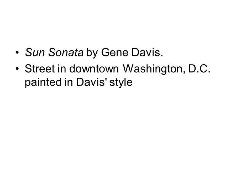 Sun Sonata by Gene Davis. Street in downtown Washington, D.C. painted in Davis style