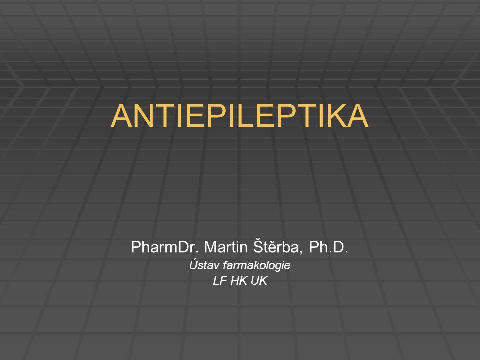 Ethosuximid   Lék volby u absencí (jinde neúčinný)   MÚ: inhibice Ca 2+ typu T   PK: dobrá absorpce po p.o.