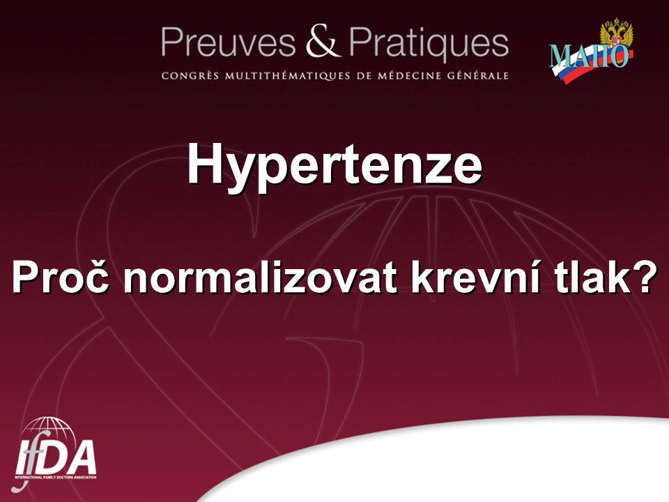 2 Hypertenze Proč normalizovat krevní tlak?