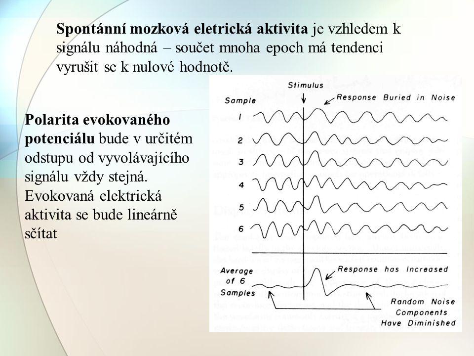 Spontánní mozková eletrická aktivita je vzhledem k signálu náhodná – součet mnoha epoch má tendenci vyrušit se k nulové hodnotě. Polarita evokovaného