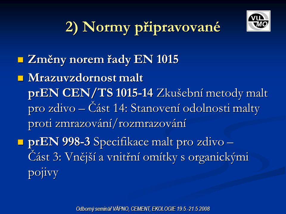 V roce 2007 proběhlo hlasování týkající se revize některých evropských norem pro potěry.