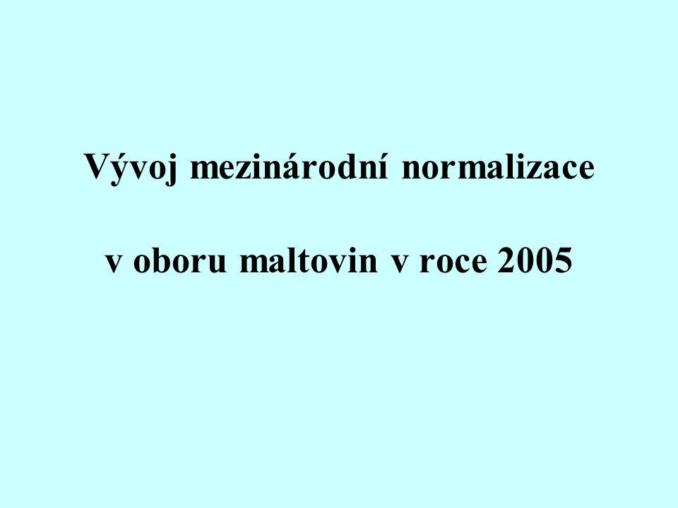 Vývoj mezinárodní normalizace v oboru maltovin v roce 2005