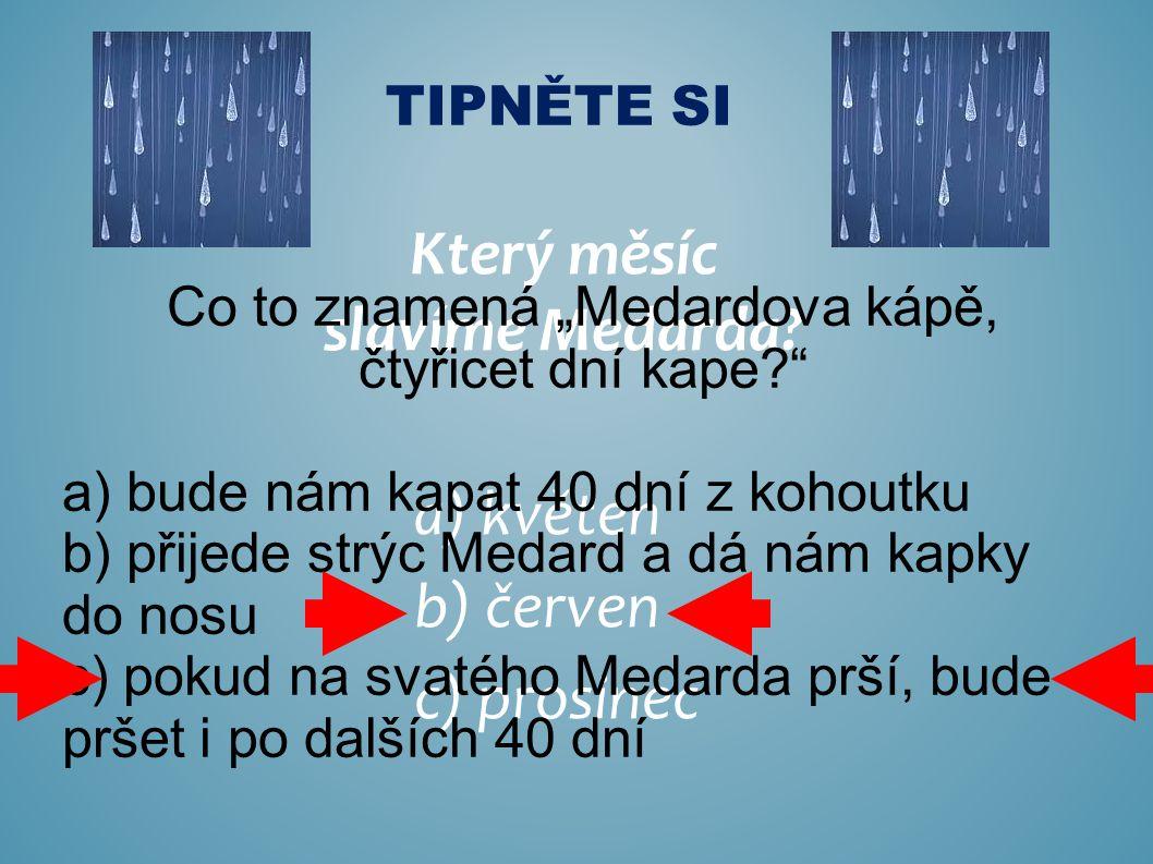 Který měsíc slavíme Medarda.