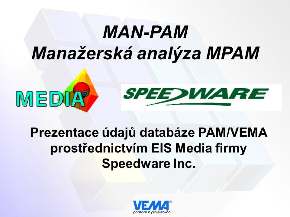 MAN-PAM Manažerská analýza MPAM Prezentace údajů databáze PAM/VEMA prostřednictvím EIS Media firmy Speedware Inc.