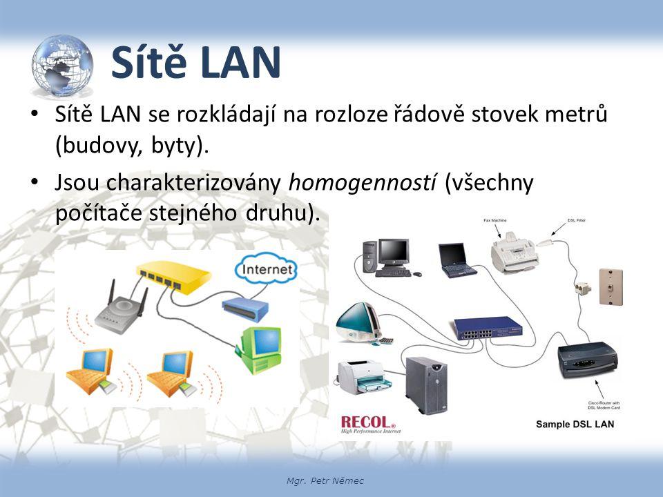 Mgr.Petr Němec Sítě MAN Rozloha sítí MAN odpovídá rozsahu města či regionu.