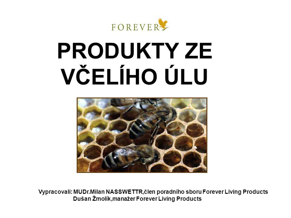 PRODUKTY ZE VČELÍHO ÚLU Vypracovali: MUDr.Milan NASSWETTR,člen poradního sboru Forever Living Products Dušan Žmolík,manažer Forever Living Products