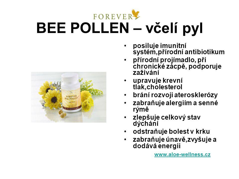 BEE POLLEN – včelí pyl posiluje imunitní systém,přírodní antibiotikum přírodní projímadlo, při chronické zácpě, podporuje zažívání upravuje krevní tla