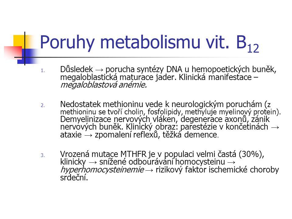 Poruhy metabolismu vit.B 12 1.