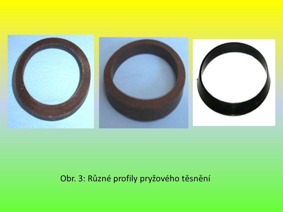 Obr. 3: Různé profily pryžového těsnění