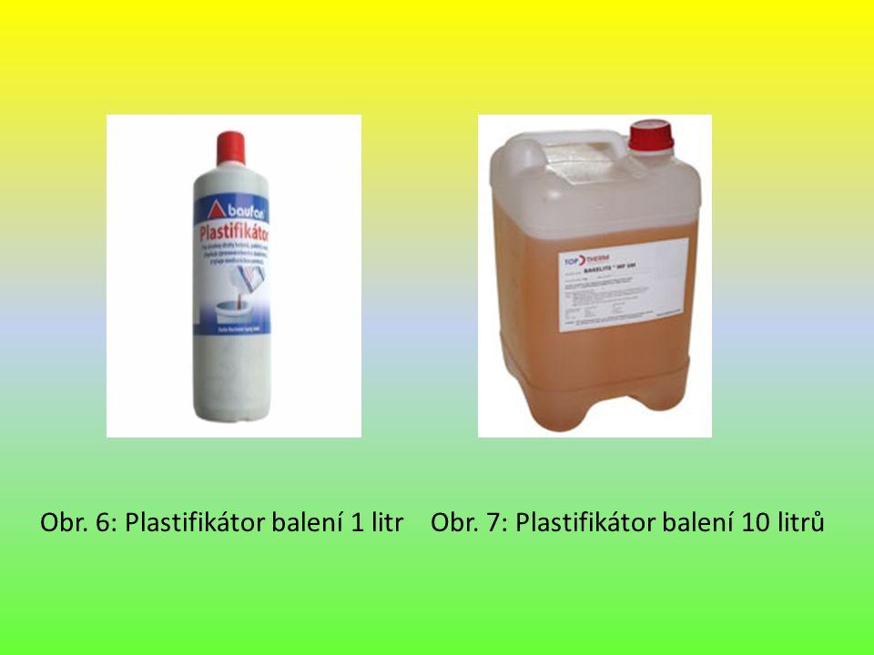 Obr. 6: Plastifikátor balení 1 litr Obr. 7: Plastifikátor balení 10 litrů