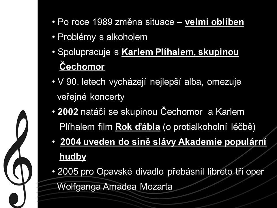 Zajímavosti Několikanásobný mistr české republiky ve Scrable Svou tvorbu nechává volně přístupnou na svých webových stránkách Svou tvorbou se dokázal přenést přes změnu společnosti po roce 1989 Většinu svých současných desek vydává vlastním nákladem Album Tak mě tu máš nahráno v hotelovém pokoji