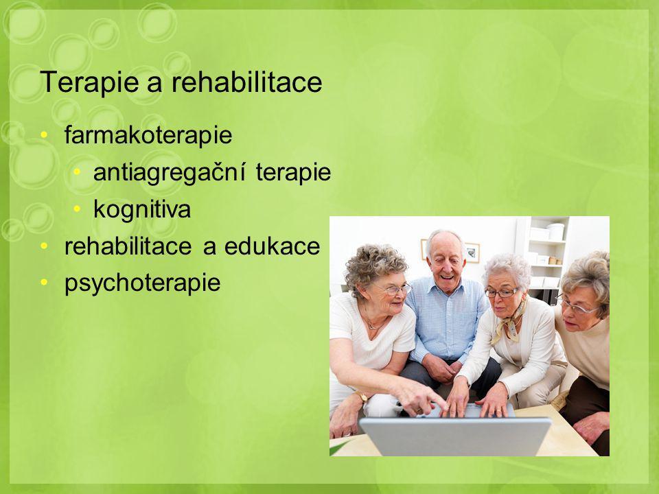 Terapie a rehabilitace farmakoterapie antiagregační terapie kognitiva rehabilitace a edukace psychoterapie