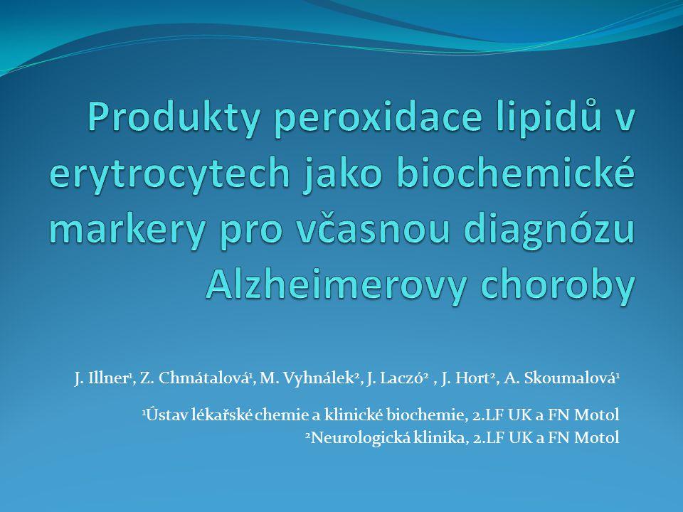 J.Illner 1, Z. Chmátalová 1, M. Vyhnálek 2, J. Laczó 2, J.
