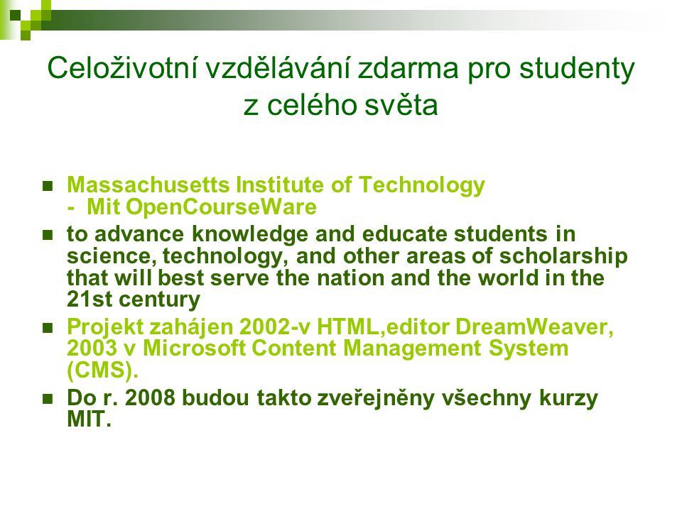 Příklady využití e-L.