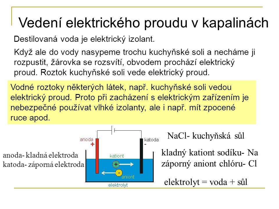 Destilovaná voda je elektrický izolant.